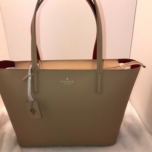 Kate Spade scotts place lida  tote nude /red 👜